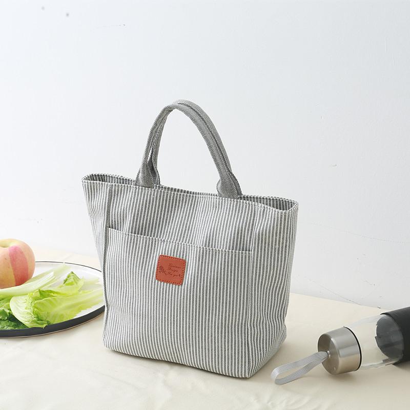 2f93d65c44 Simple canvas lunch bag lunch box bag to buy food bag Japanese-style rice  bag hand bag back nurse bag original handmade