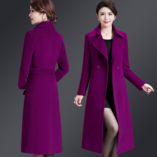 Anti-season clearance specials middle-aged women's cashmere coat women no double-sided long autumn and winter wool coat