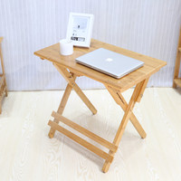 Bamboo study table and chairs Children's small desk Bedroom desk can be raised and lowered folding student table and chair solid wood bamboo
