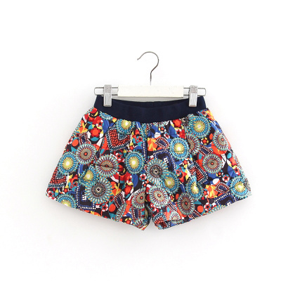 (Three 30% off) Brand cut label children's clothing winter girls shorts in the children's pants shorts Pop Flower 53256
