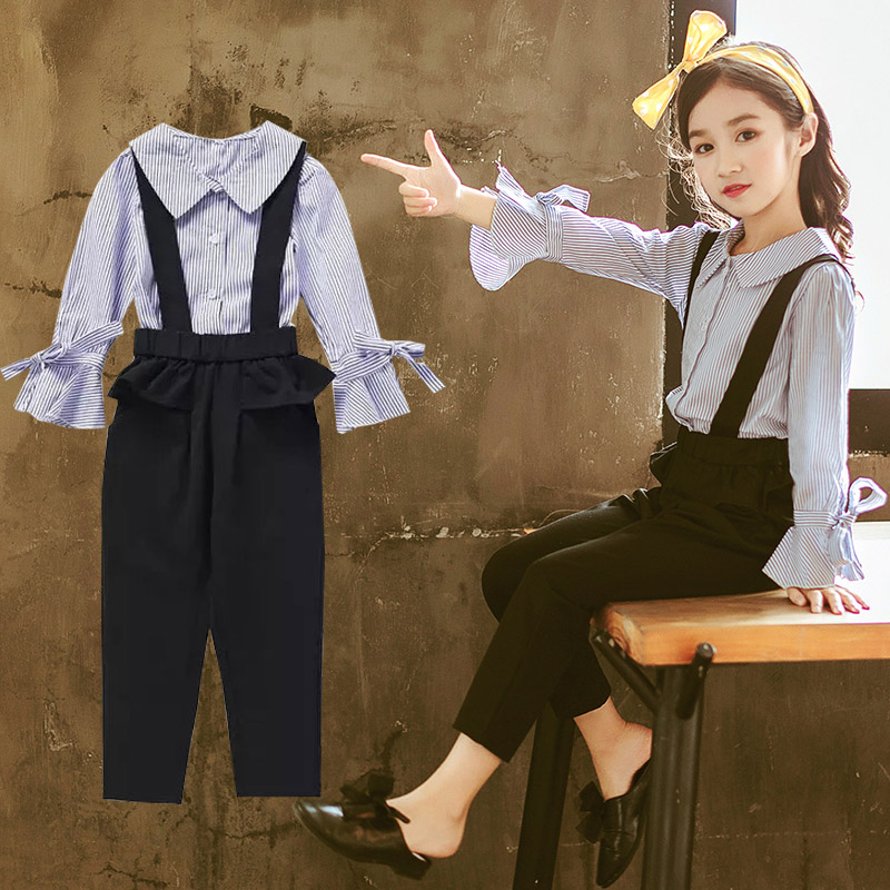250cd635b01 Children s girls spring suit 2019 new spring and autumn 3 Korean version 4  fashionable 5 foreign 6 children 7 clothes 8-year-old Tide