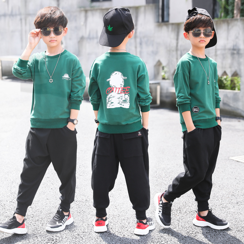 8084ad723 Children's clothing boys autumn set 2018 new 5 spring and autumn 6 handsome 7  boys 10 sports 8 clothes 12-year-old Tide