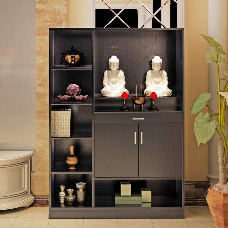 Buddha Cabinet With Cabinets, Simple Household Economy, Chinese Buddhist  Temple, Table, God