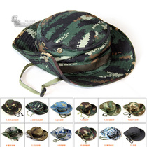 Special Forces casual training hat Tiger spotted round hat male fisherman hat camouflage hat