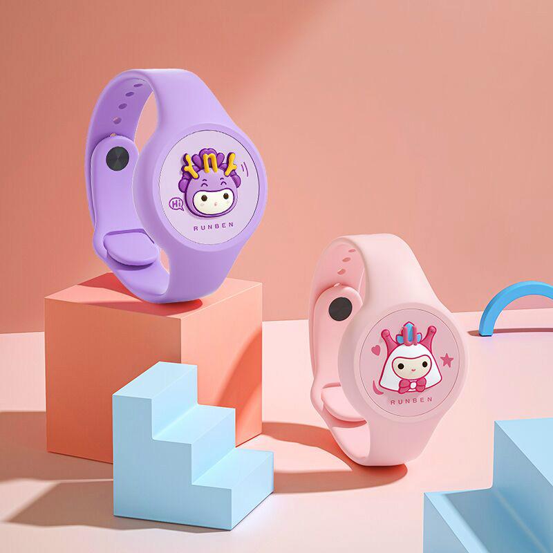 润本发光驱蚊手环大人宝宝婴儿防蚊子神器随身儿童学生防蚊扣手表