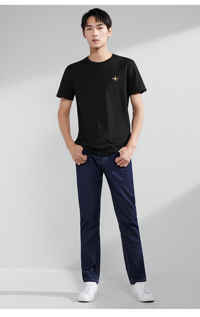 海澜之家 HLA 2021新款 男纯棉短袖T恤 图8