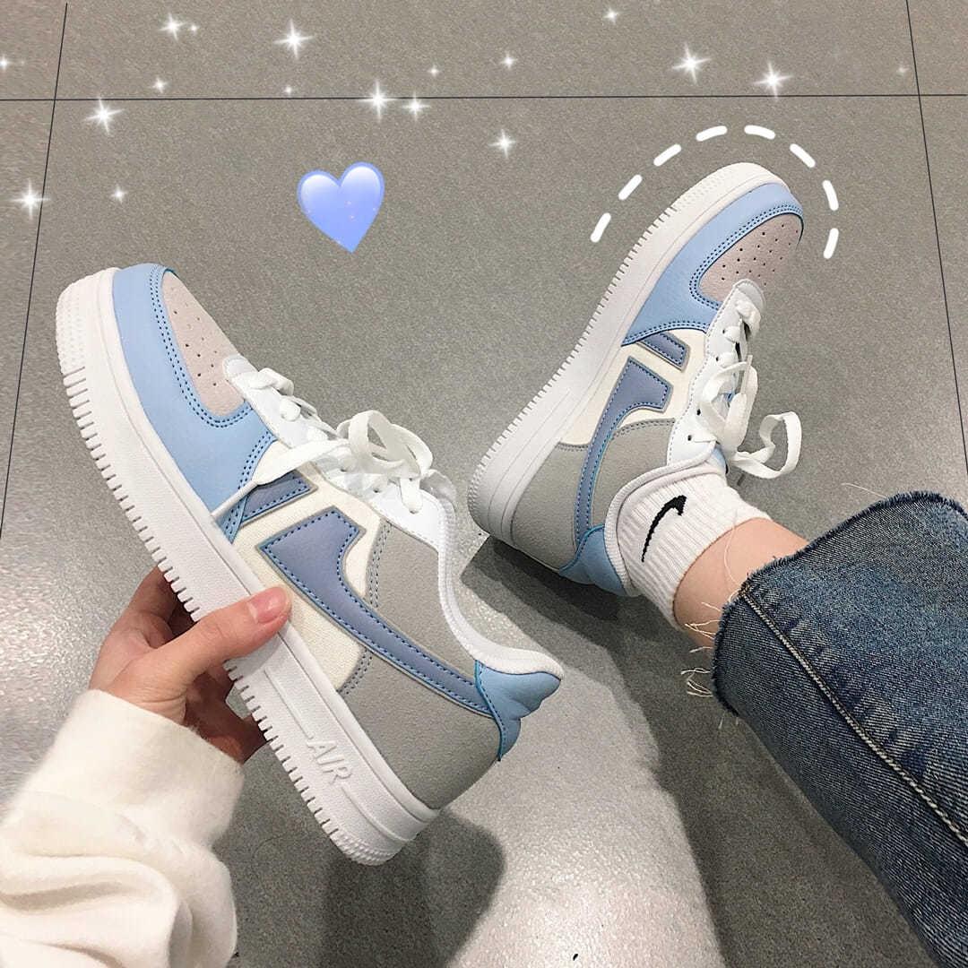 海盐蓝网红板鞋女2020夏新款韩版街拍学生运动休闲鞋子ins潮百搭