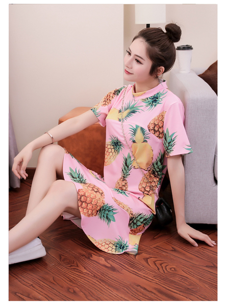 Summer Fashion Breastfeeding Clothes Short Sleeve Dress
