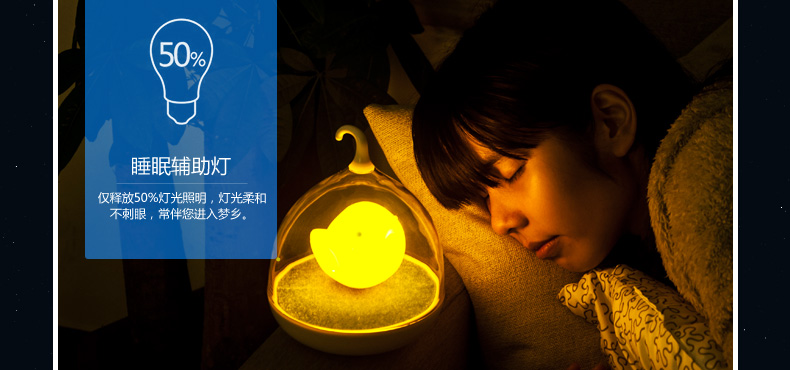teamwork天蝸 創意鳥籠LED智能觸碰感應燈可愛臥室床頭小夜燈