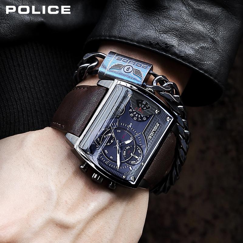 【活动】 POLICE手表男方形复古潮流时尚男士石英腕表PL.14698