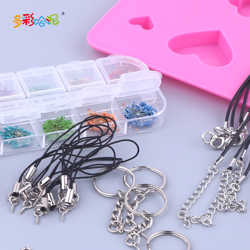 Crystal Epoxy Silicone Mould DIY Handmade Dried Flower Glitter Keychain  Material Pack Epoxy Mold