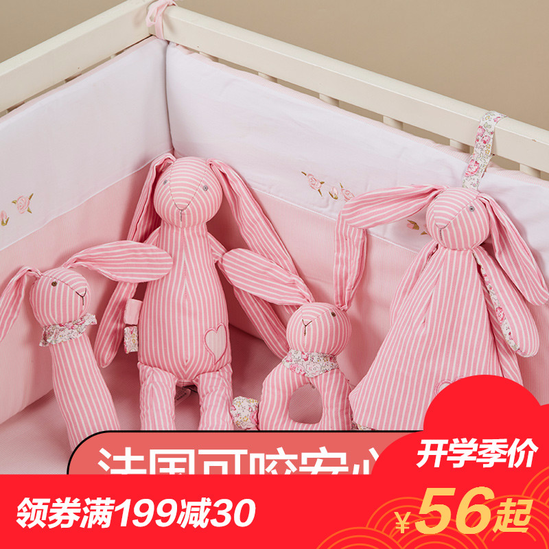Франция ребенок успокаивать игрушка 0-3-6-12 месяцы может укусить ткань даже кукла ребенок кролик плюш куклы ложиться спать