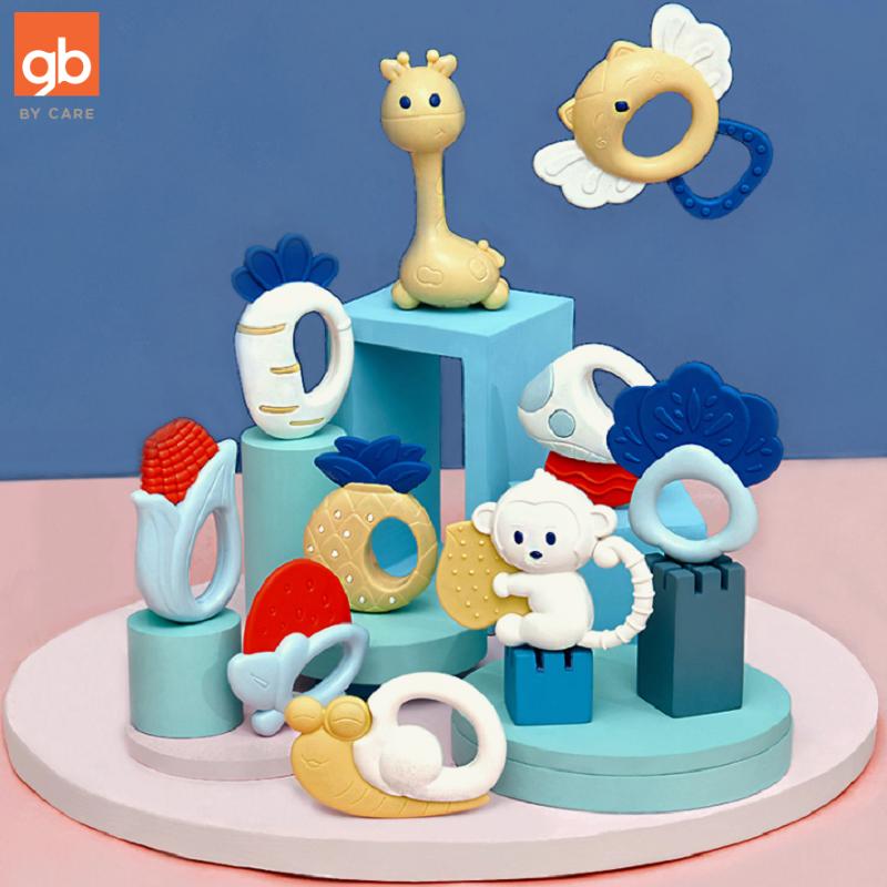 gb好孩子婴儿音乐手摇铃套装10件套宝宝磨牙牙胶手抓球男女孩玩具