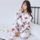 Warm long-sleeved pajamas women's autumn pants suit plus velvet tight underwear bottom cotton sweater body clothes