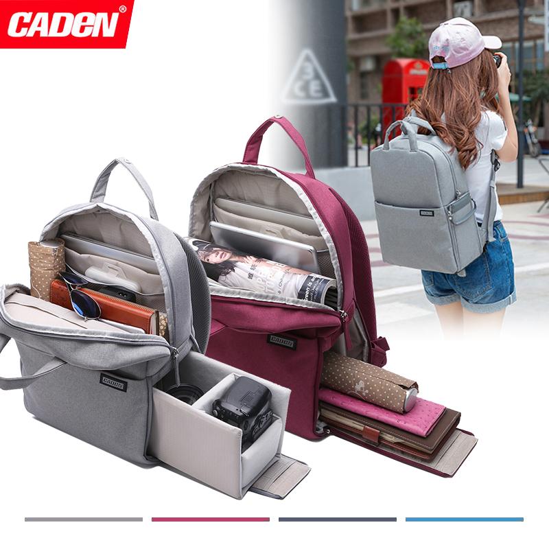卡登单反相机包双肩背包便携防水佳能尼康索尼微单电脑摄影包双肩