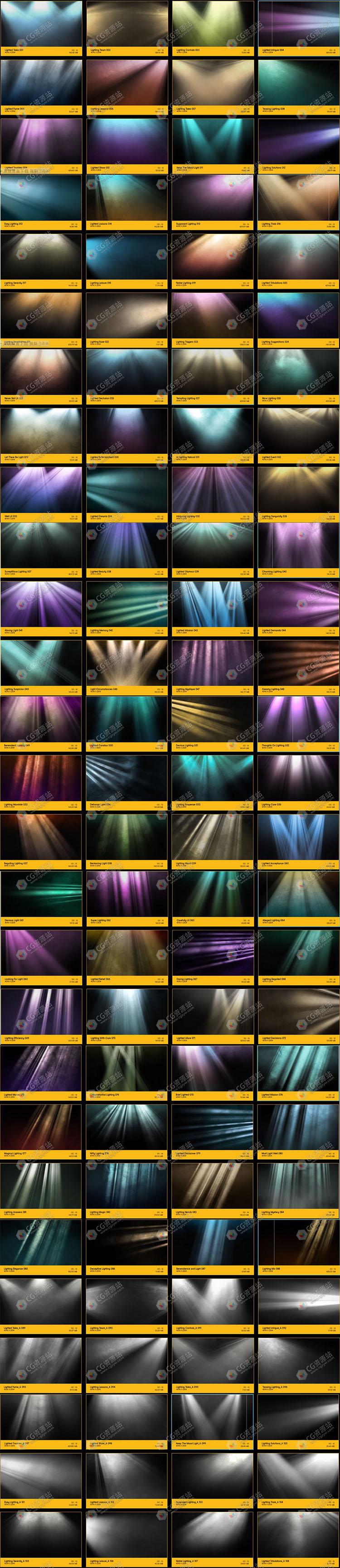 176组4K光芒光耀体积光特效合成高清视频素材 BB18