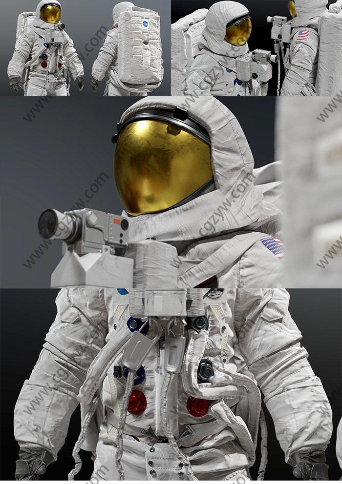 高精度太空航天服3D模型