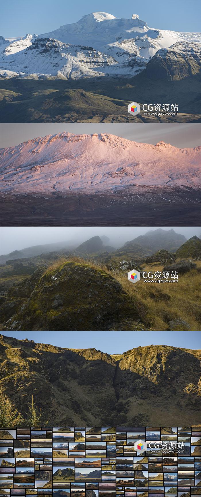 838组冰岛广阔山脉高清图片素材
