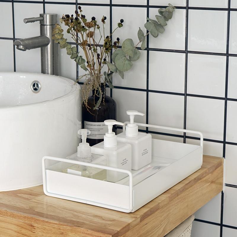 北欧家居置物盘 洗手间桌面收纳盘 ins风托盘 卫生间洗漱收纳