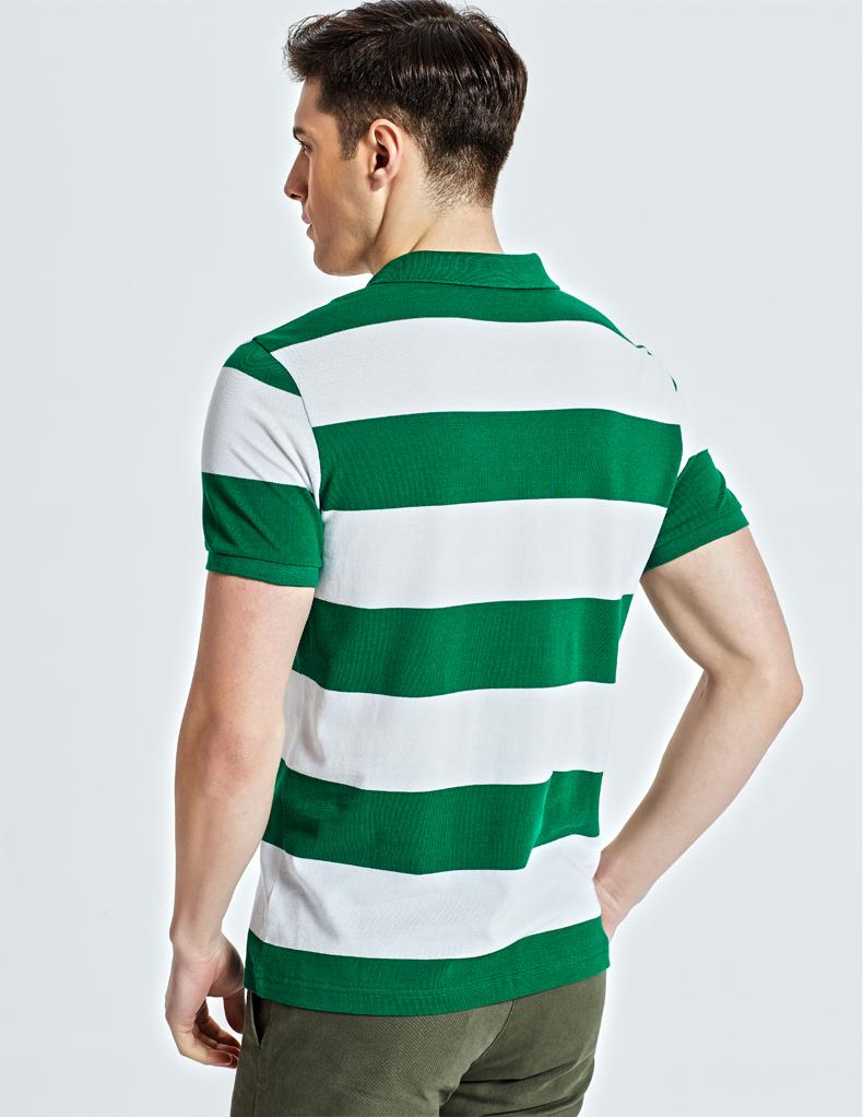 Playboy cotton ngắn tay t-shirt nam mùa hè mới mỏng nửa tay áo ve áo sọc polo áo sơ mi nam áo sơ mi áo thun nam đẹp