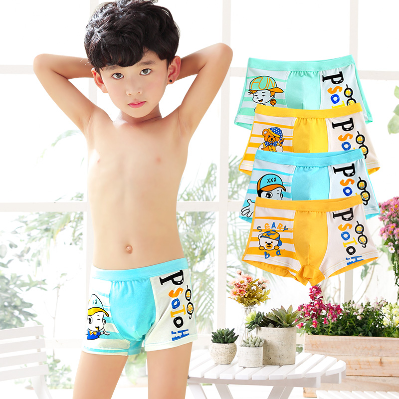 f9d8ae182e Children's underwear men's boxer pants boys Big children's pants students  boys boxer shorts cotton thin section 10-12-15 years old