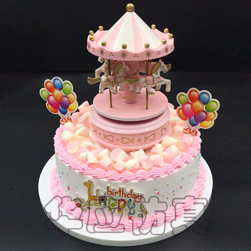 Simulation Cake Model New Merry Trojan Scene Scenario Cabinet Sample Birthday Plastic Fake