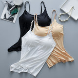 Ice silk seamless tube top, wrapped chest strap, chest pad, anti-failure, can be worn outside, camisole, bra, all-in-one base underwear