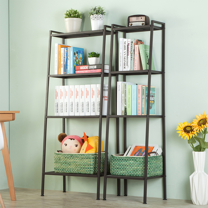 Heart IKEA Bookshelf Flooring Living Room Shelf Bedroom Simple Iron Flower Stand Balcony Multi Layer Space