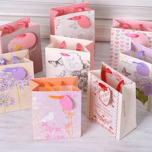 小清新礼品袋 生日节日伴手礼袋 高档礼物盒包装纸袋手提袋ENC-M1