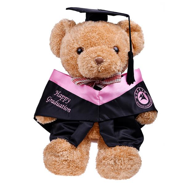 大学硕士博士创意熊公仔,大学毕业送女生DIY礼物