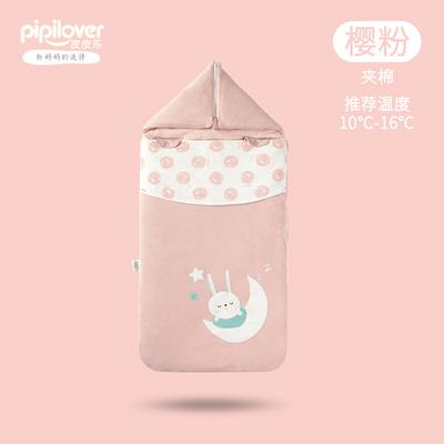 初生婴儿睡袋防惊跳抱被两用春秋新生的宝宝包被纯棉被子外出秋冬