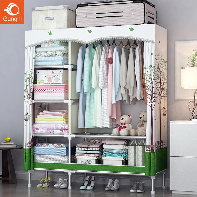衣柜简易布衣柜钢管加粗加固加厚组装钢架布艺衣橱简约现代经济型