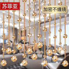 Bead curtain crystal partition living room porch bedroom decoration partition curtain European curtain curtain bathroom feng shui curtain