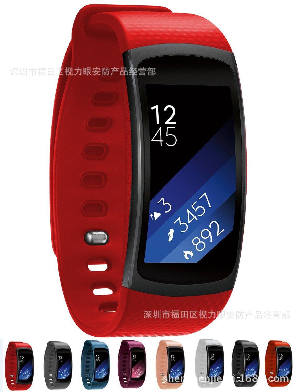 �m用于三星 Gear Fit2硅�z手表表�� 智能手�h R360 硅�z �S帽��