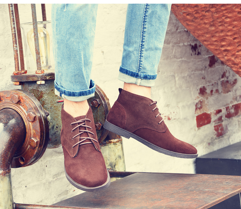 best loved 5d878 d50a4 FASHION MENS DESERT SUEDE LEATHER CHUKKA CASUAL DRESS LACE U