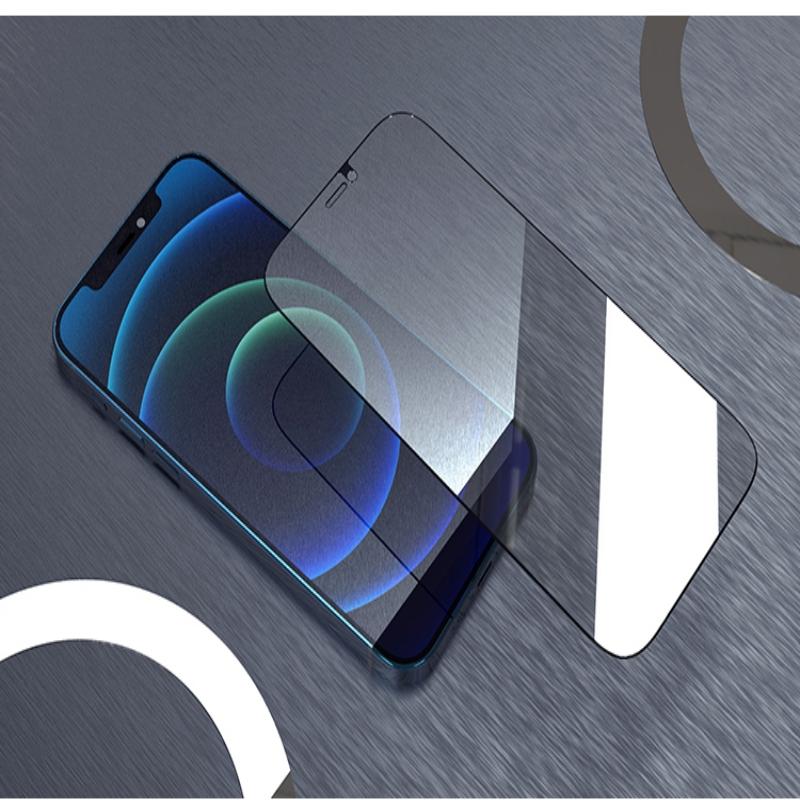 苹果12防窥钢化膜11promax蓝光全屏覆盖12mini防摔手机贴膜XsMax
