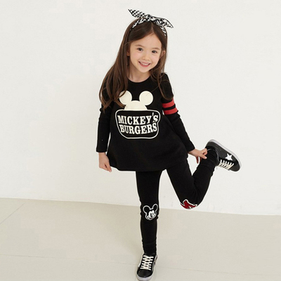 Children's clothing 2018 spring and autumn with a new girl two-piece suit long sleeve suit 2-3-4-5-6-7 years old tide