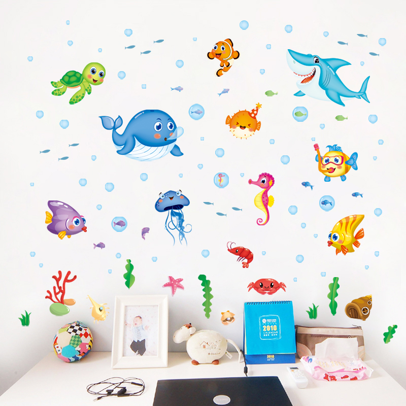 usd 7.04] children's room wall stickers to remove the underwater