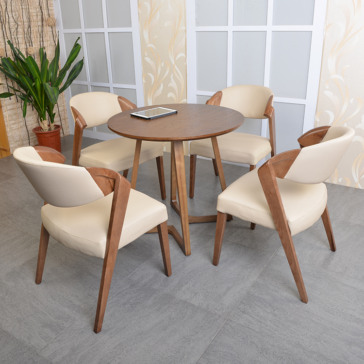Furniture Lovely Modern Minimalist Chair Creative Negotiation Office Chair Nordic Dining Chair Home Back Solid Wood Desk Chair