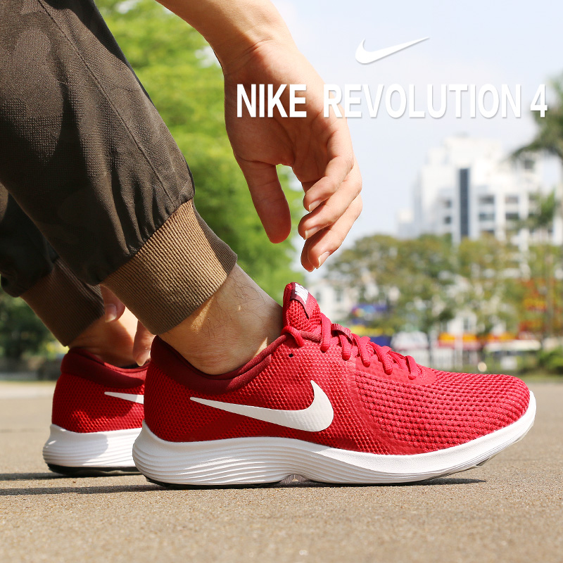 Nike Men s shoes running shoes 2019 new genuine REVOLUTION 4 lightweight  breathable sports shoes 908988 01db216b3