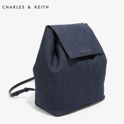CHARLES & KEITH Backpack CK2-20780454 Europe and the United States simple color Drawstring ladies bag