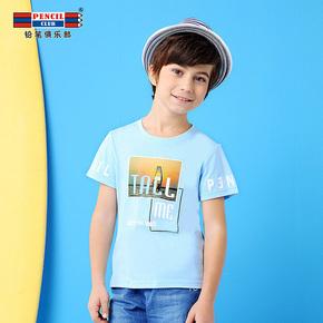 铅笔俱乐部童装棉上衣儿童T恤