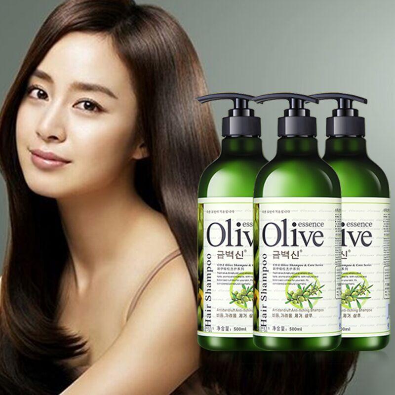 3瓶装 橄榄洗发露洗发水改善头屑控油滋养护理养发洗发水500ml-给呗网