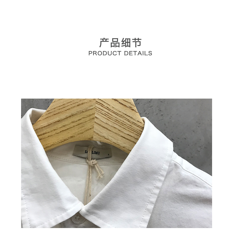 Xu Tailang American autumn men's casual splicing grid shirt trend wash a hundred back letter embroidered shirt 48 Online shopping Bangladesh