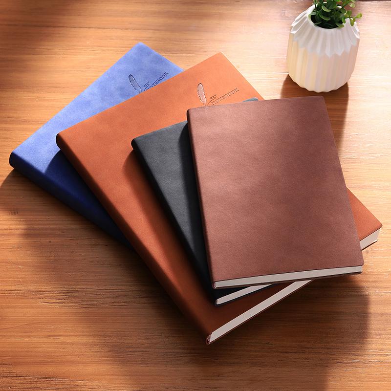 【送签字笔】高档皮质笔记本日记本