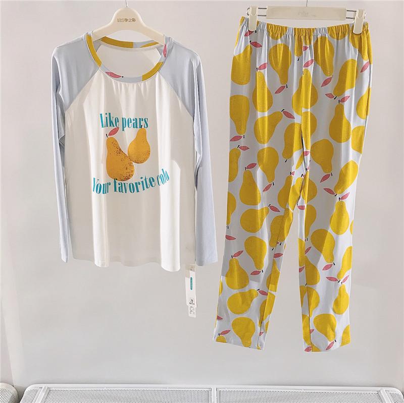 Mang thai màu sắc 2020 mùa xuân và mùa hè Phụ nữ mang thai lê dịch vụ tại nhà phù hợp với phương thức cotton cho con bú YBT191032 - Giải trí mặc / Mum mặc