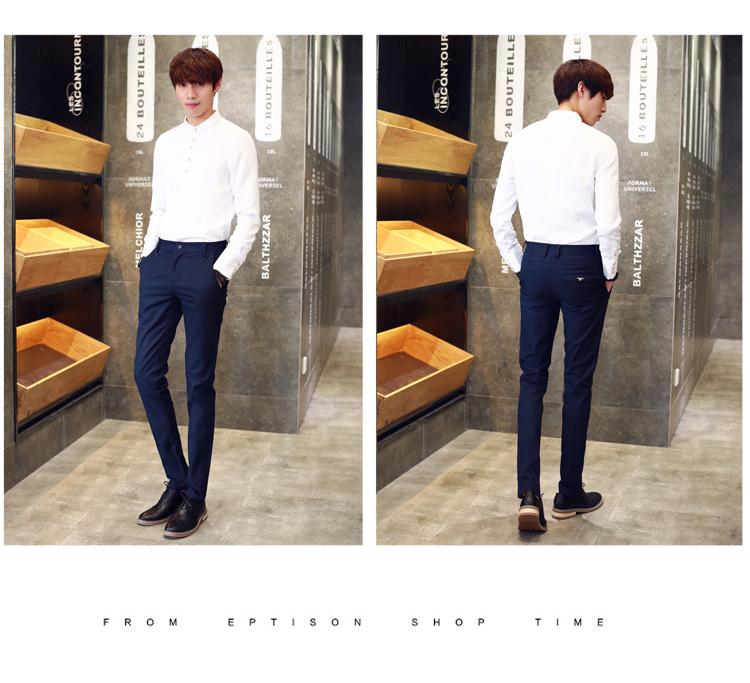 Duke xe mùa hè người đàn ông mới của quần âu chân Mỏng quần nam quần Hàn Quốc quần thanh niên xu hướng của nam giới quần áo