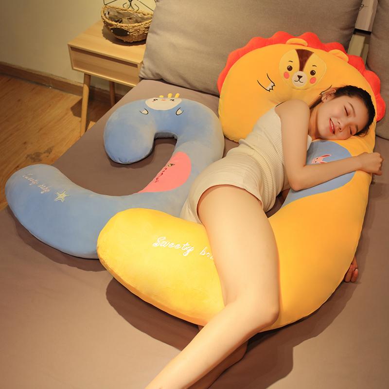 可爱孕妇毛绒玩具公仔床上陪睡觉夹腿长条抱枕大玩偶布娃娃男女生