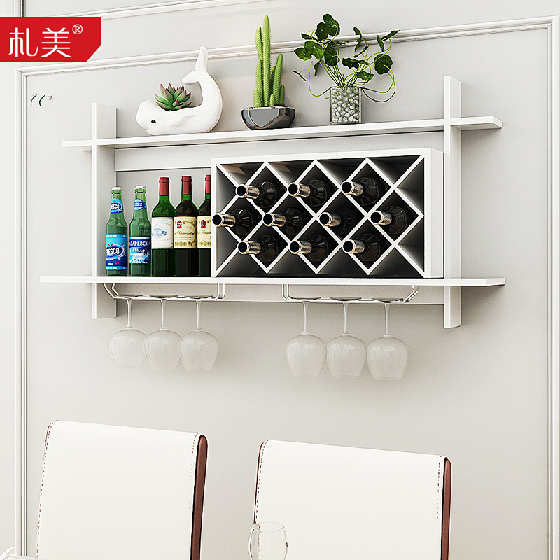wine haasehandcraft honeycomb racks century hanging storage pin wooden of hexagon set wall rack mid by