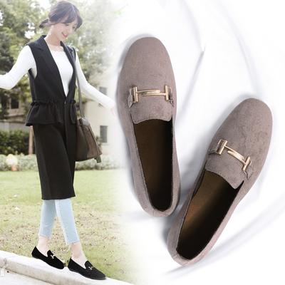 明星款豆豆鞋时尚休闲舒适软底仙女鞋